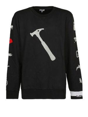 LANVIN: Felpe e maglie - Felpa in misto cotone con stampa martello