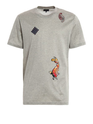 Lanvin: t-shirts - Embroidered patch T-shirt