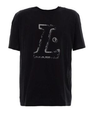 Lanvin: t-shirts - L black T-shirt
