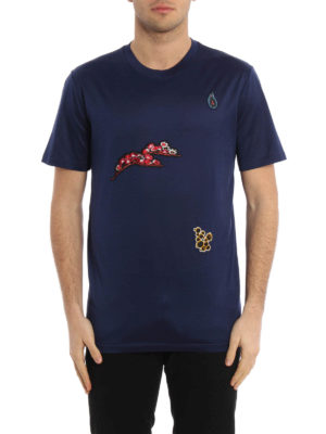 Lanvin: t-shirts online - Embroidered patch T-shirt