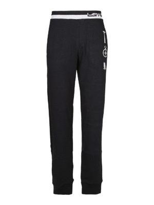 LANVIN: pantaloni sport - Pantaloni da jogging con ricami