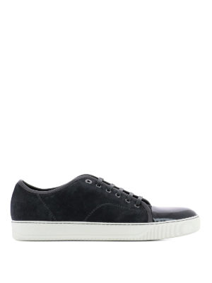 Lanvin: trainers - DBB1 suede and patent sneakers