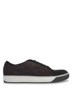Lanvin: trainers - Embossed leather sneakers