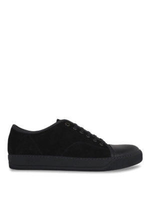 Lanvin: trainers - Low top suede and leather sneakers