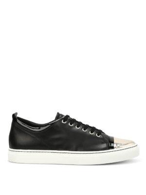Lanvin: trainers - Metallic toe leather sneakers
