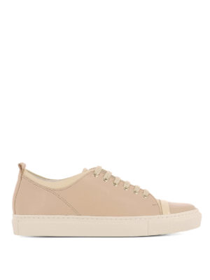 Lanvin: trainers - Multi leather low top sneakers
