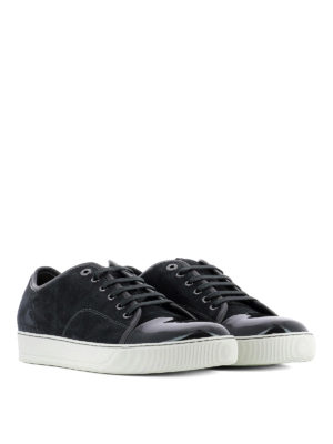Lanvin: trainers online - DBB1 suede and patent sneakers
