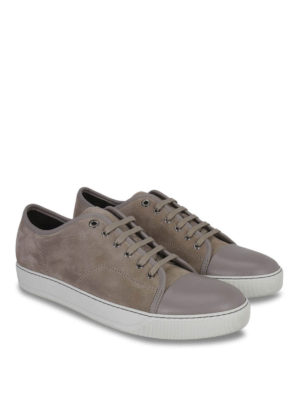Lanvin: trainers online - Low top suede and leather sneakers