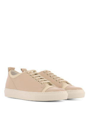 Lanvin: trainers online - Multi leather low top sneakers