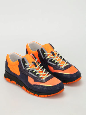 Lanvin: trainers online - Suede and leather running  sneakers