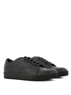 Lanvin: trainers online - Toe cap leather sneakers