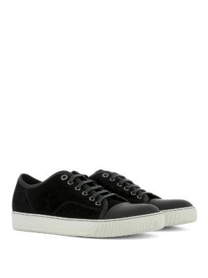 Lanvin: trainers online - Toe cap suede sneakers
