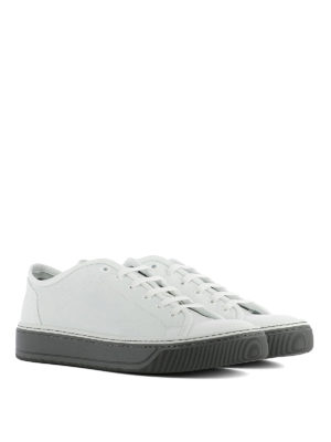 Lanvin: trainers online - White leather low top sneakers