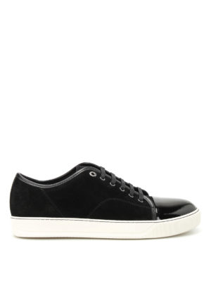 Lanvin: trainers - Suede and patent leather sneakers