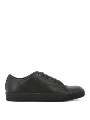 Lanvin: trainers - Toe cap leather sneakers