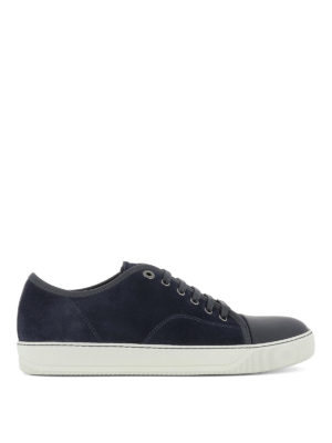 Lanvin: trainers - Toe cap suede sneakers