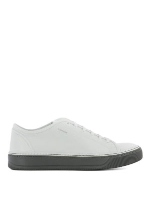 Lanvin: trainers - White leather low top sneakers