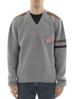 Lanvin: v necks online - Ribbed wool V-neck