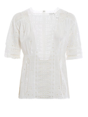 Loewe: blouses - Broderie anglaise delicate blouse