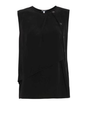 Loewe: blouses - Layered sleeveless blouse