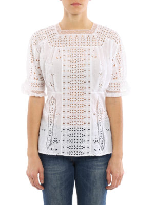 Loewe: blouses online - Broderie anglaise delicate blouse