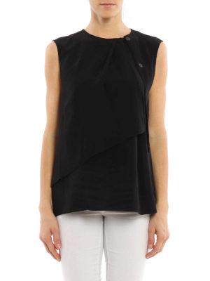 Loewe: blouses online - Layered sleeveless blouse