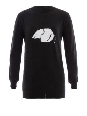 Loewe: crew necks - Mouse intarsia wool sweater
