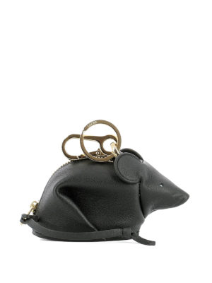 Loewe: key holders - Mouse shaped key holder charm