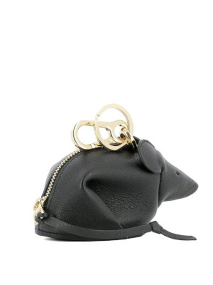 Loewe: key holders online - Mouse shaped key holder charm