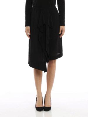Loewe: Knee length skirts & Midi online - Silk blend draped skirt