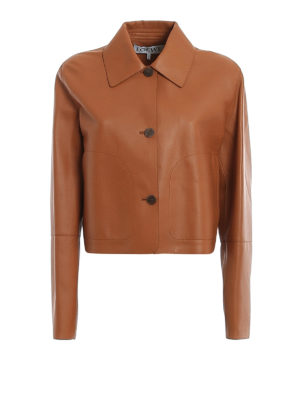 LOEWE: leather jacket - Extra long sleeve nappa jacket