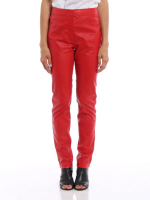 Loewe: leather trousers online - Stretch leather trousers