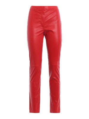Loewe: leather trousers - Stretch leather trousers