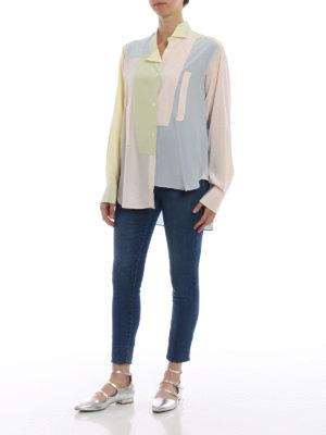 LOEWE: camicie online - Camicia over in seta color block