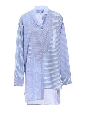 Loewe: shirts - Asymmetrical linen and cotton shirt