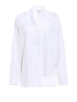 Loewe: shirts - Asymmetrical white cotton shirt