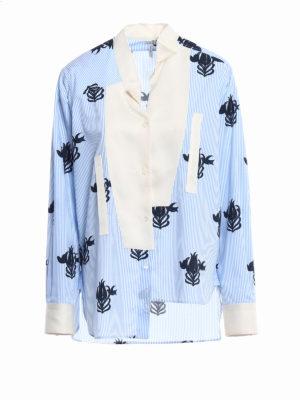 Loewe: shirts - Broken collar asymmetrical shirt
