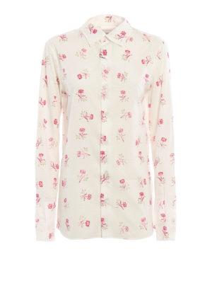 Loewe: shirts - Floral print classic cotton shirt