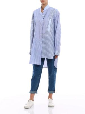 Loewe: shirts online - Asymmetrical linen and cotton shirt