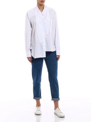 Loewe: shirts online - Asymmetrical white cotton shirt