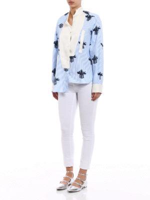 Loewe: shirts online - Broken collar asymmetrical shirt