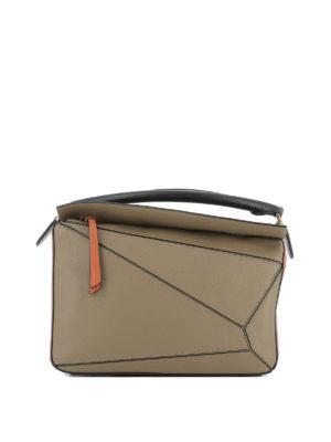 Loewe: shoulder bags - Leather Puzzle bag