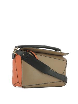 Loewe: shoulder bags online - Leather Puzzle bag