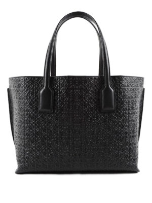 Loewe: totes bags - T embossed leather tote