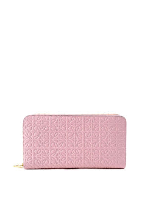 Loewe: wallets & purses - Embossed leather zip around wallet