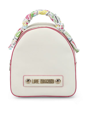LOVE MOSCHINO: backpacks - Soft grain faux leather dome backpack