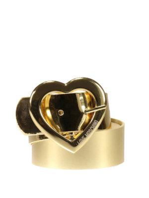 Love Moschino: belts - Heart buckle detailed belt