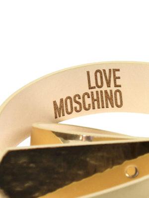 Love Moschino: belts online - Heart buckle detailed belt