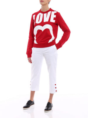 Love Moschino: casual trousers online - Heart-shaped buttons crop trousers