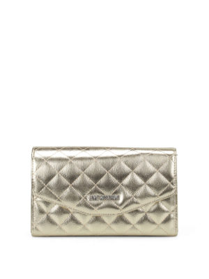 Love Moschino: clutches - Gold-tone quilted clutch